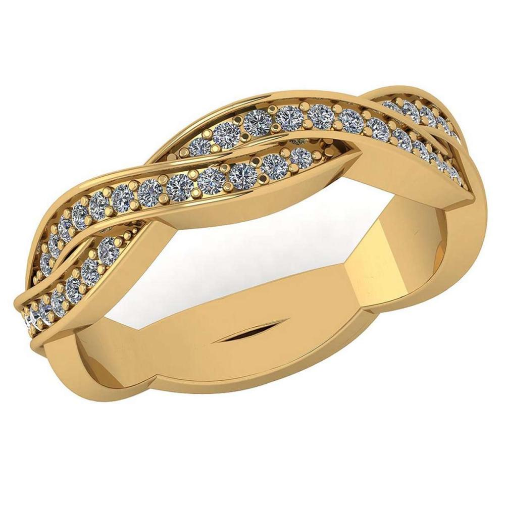 Certified 0.43 Ctw Diamond Bands VS/SI1 For womens New Expressions love collection 14K Yellow Gold (VS/SI1) #1AC19209