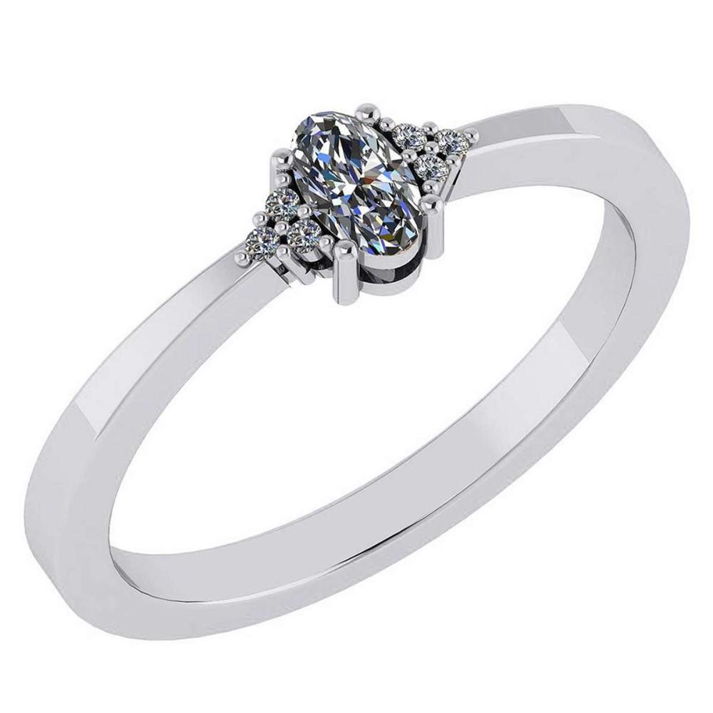 Certified 0.24 CTW Smoky Quarzt And Diamond 14k White Gold Halo Ring #1AC98743