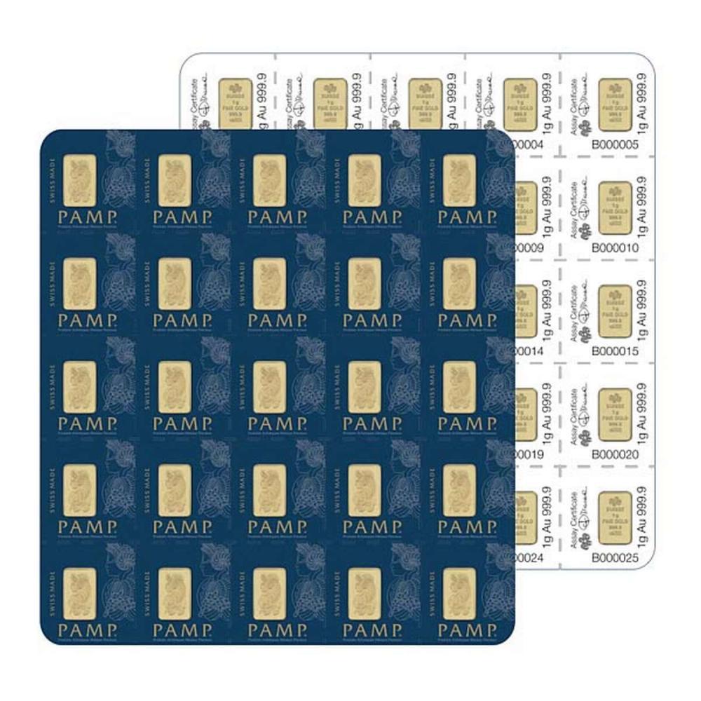 PAMP Suisse 25 Gram Gold Bar - MULTIGRAM Design #1AC96474