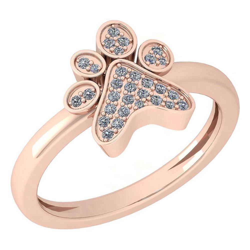 Certified 0.15 Ctw Diamond Ring 14k Rose Gold (VS/SI1) #1AC19342