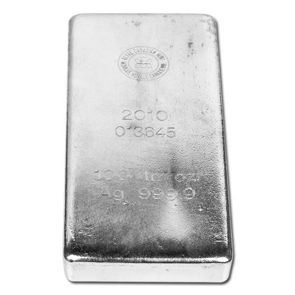 Royal Canadian Mint RCM Silver Bar 100 oz #1AC96629