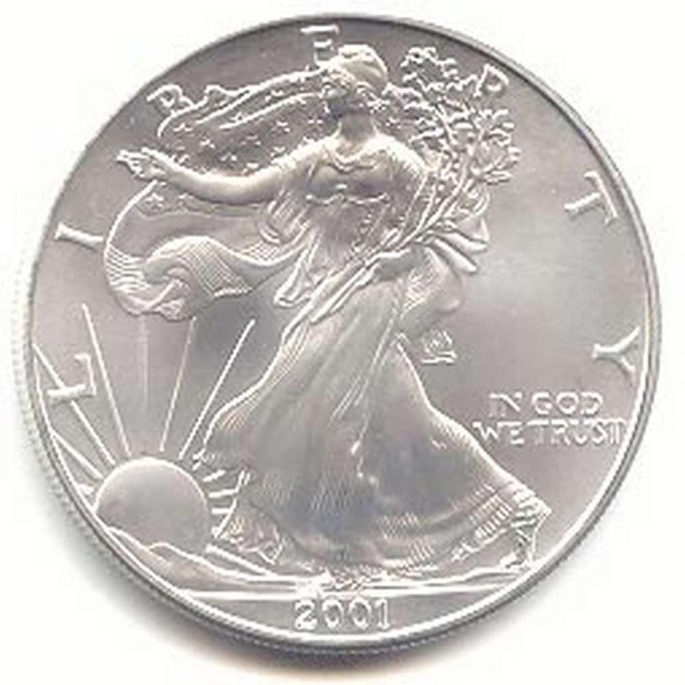 2001 1 oz Silver American Eagle BU #1AC96649