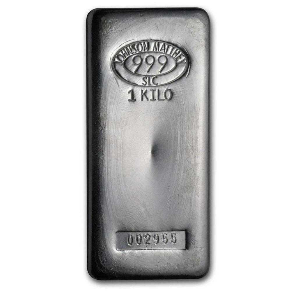 Johnson Matthey 1 Kilo Silver Bar (32.15 oz) #1AC96625