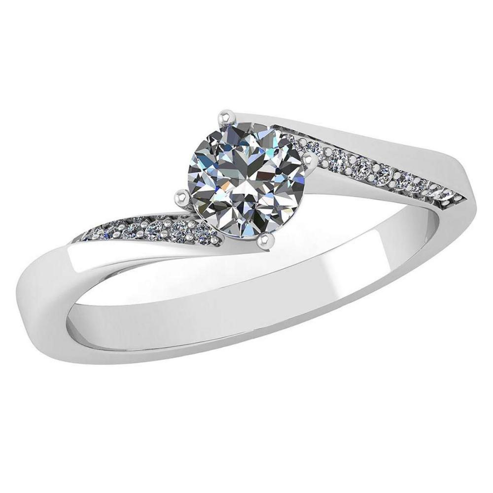 Certified 1.09 Ctw Diamond Halo Ring For Engagement New Expressions love collection 14K White Gold (SI2/I1) #1AC19212