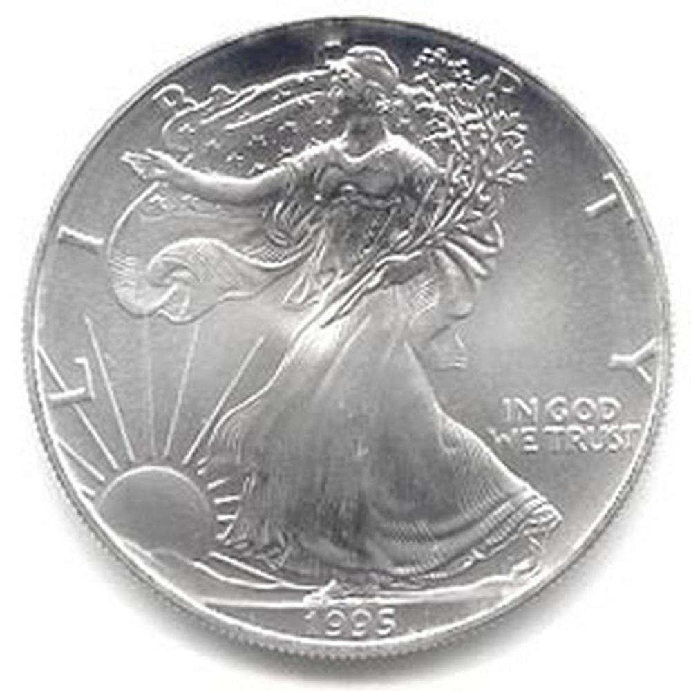 1995 1 oz Silver American Eagle BU #1AC96654