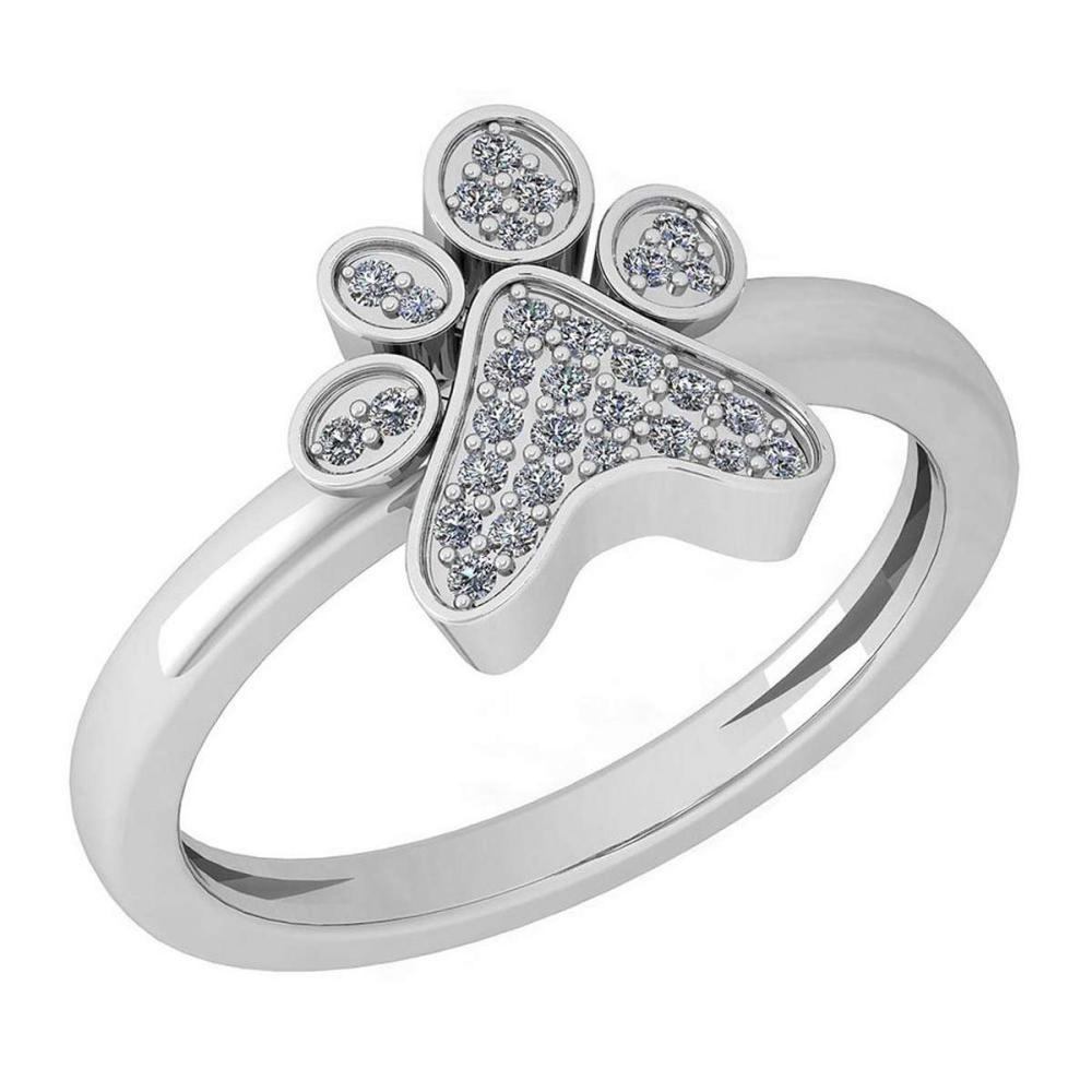 Certified 0.15 Ctw Diamond Ring 14k White Gold Ring (VS/SI1) #1AC19343