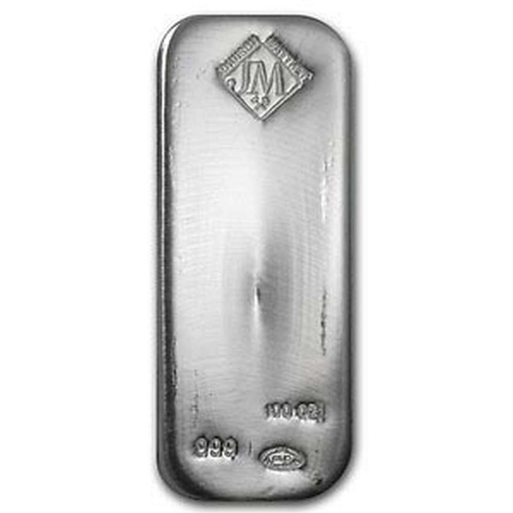 Johnson Matthey Silver Bar 100 oz #1AC96542