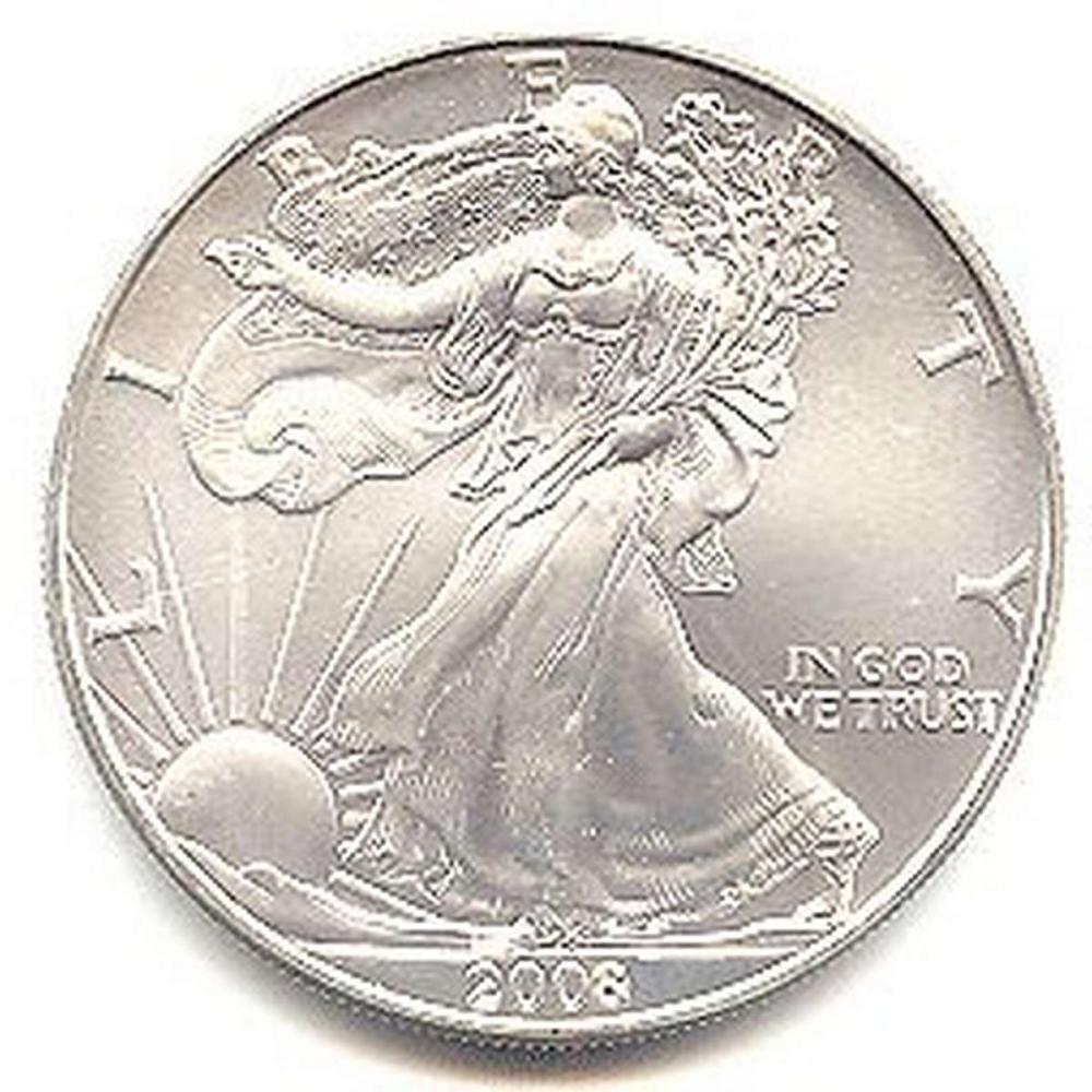 2008 1 oz Silver American Eagle BU #1AC96644