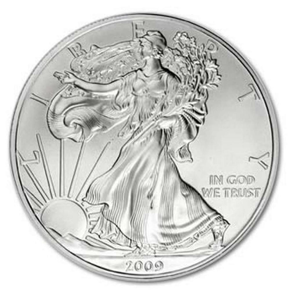 2009 1 oz Silver American Eagle BU #1AC96643