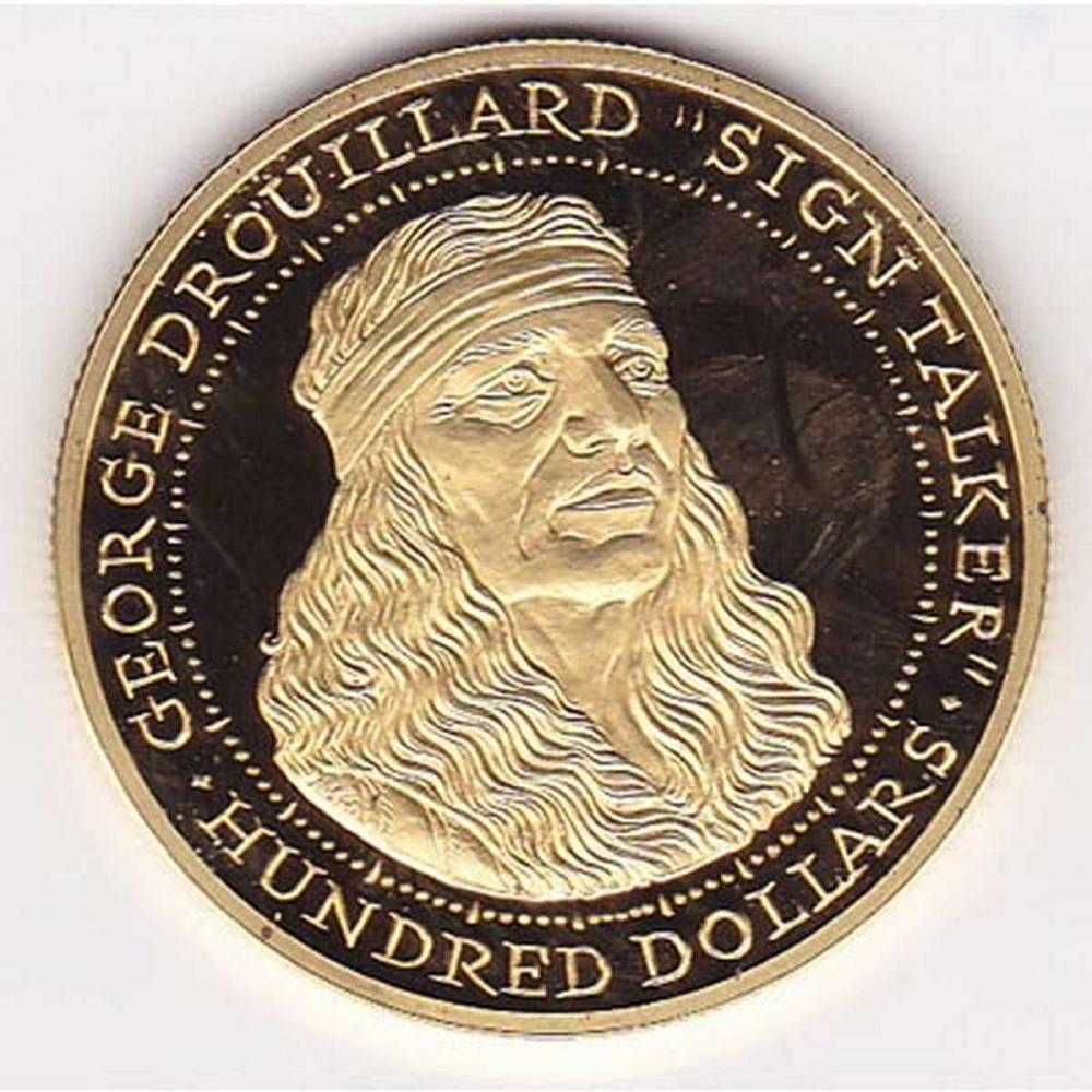 Shawnee Nation $100 gold PF 2003 George Drouillard #1AC96464