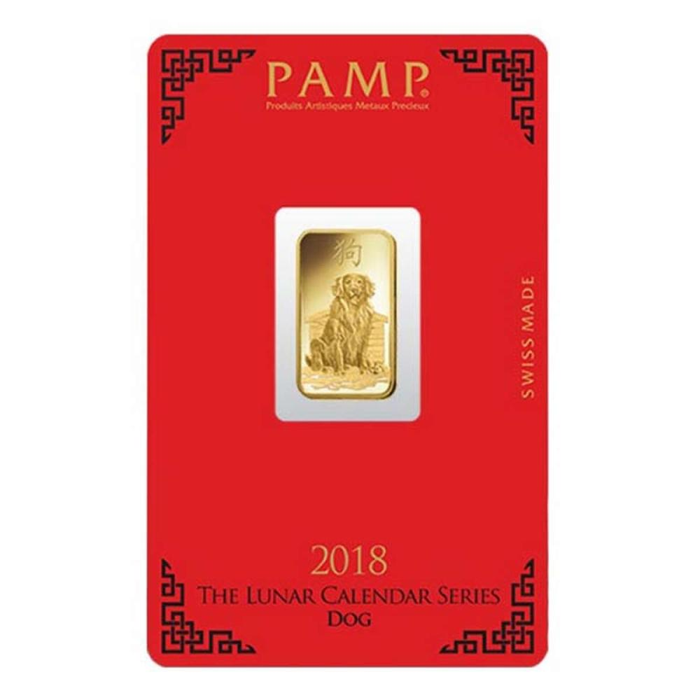 PAMP Suisse 5 Gram Gold Bar 2018 - Dog Design #1AC96495