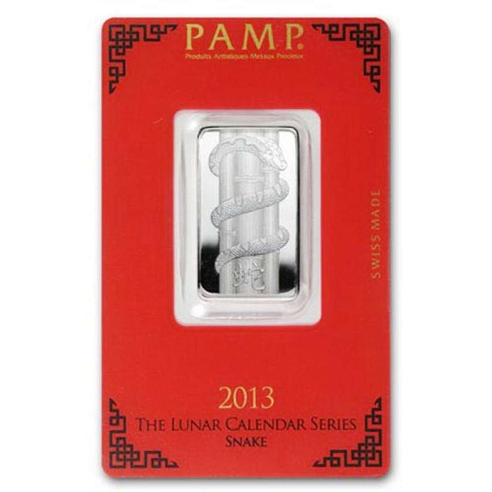 PAMP Suisse Silver Bar 10 Gram - 2013 Snake Design #1AC96590