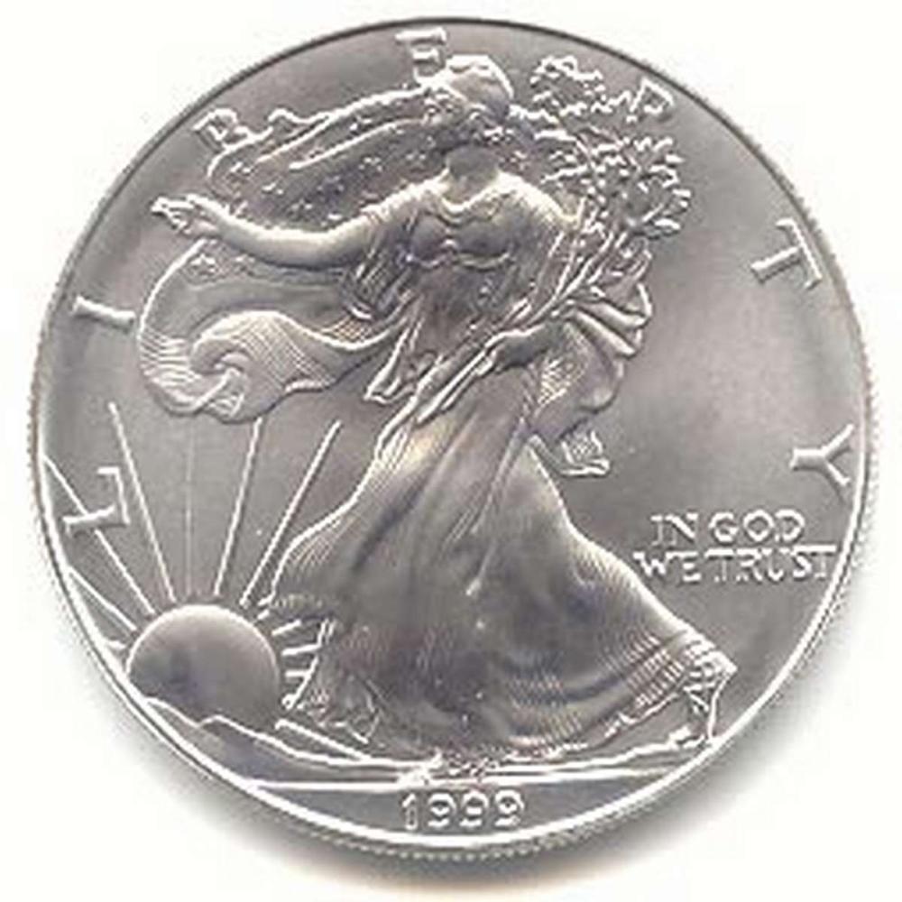 1999 1 oz Silver American Eagle BU #1AC96651
