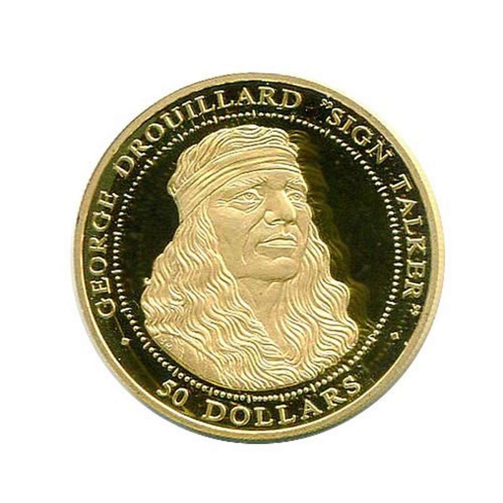 Shawnee Nation $50 Gold PF 2003 George Drouillard #1AC96459