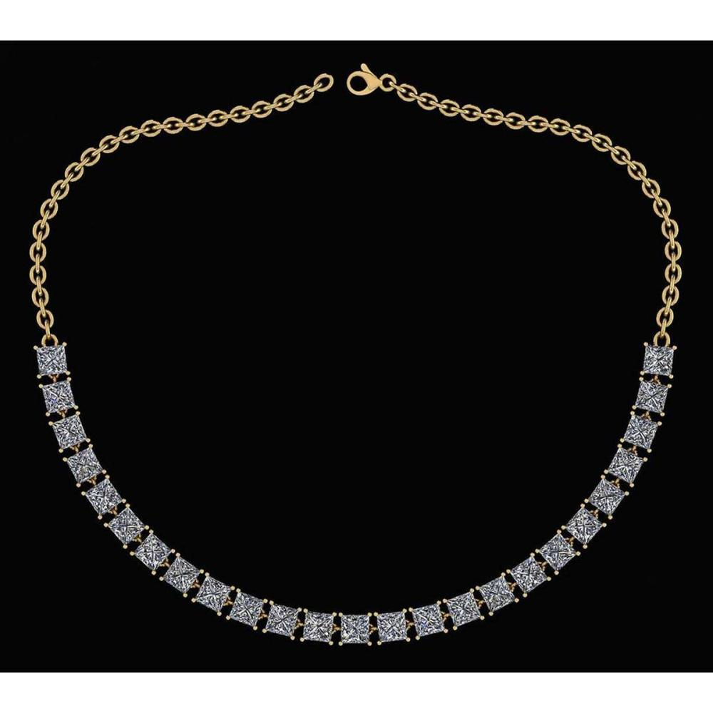 Certified 18.75 Ctw Diamond Necklace For Ladies 14K Yellow Gold (I1/I2) #1AC19320