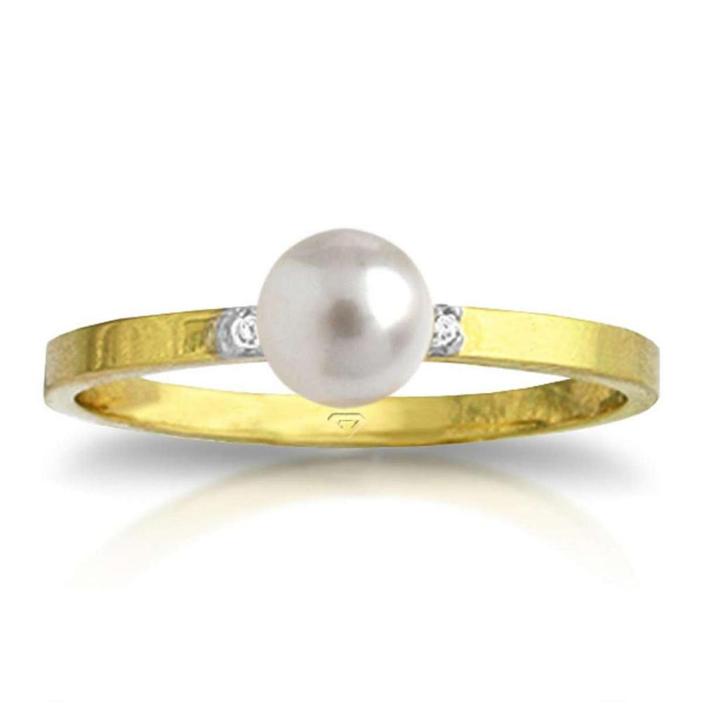 1.02 Carat 14K Solid Gold Ring Diamond pearl #1AC91504
