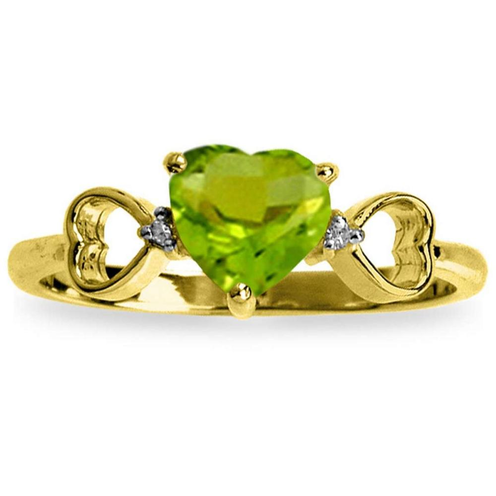 0.96 Carat 14K Solid Gold Not Sugarcoated Peridot Diamond Ring #1AC91591