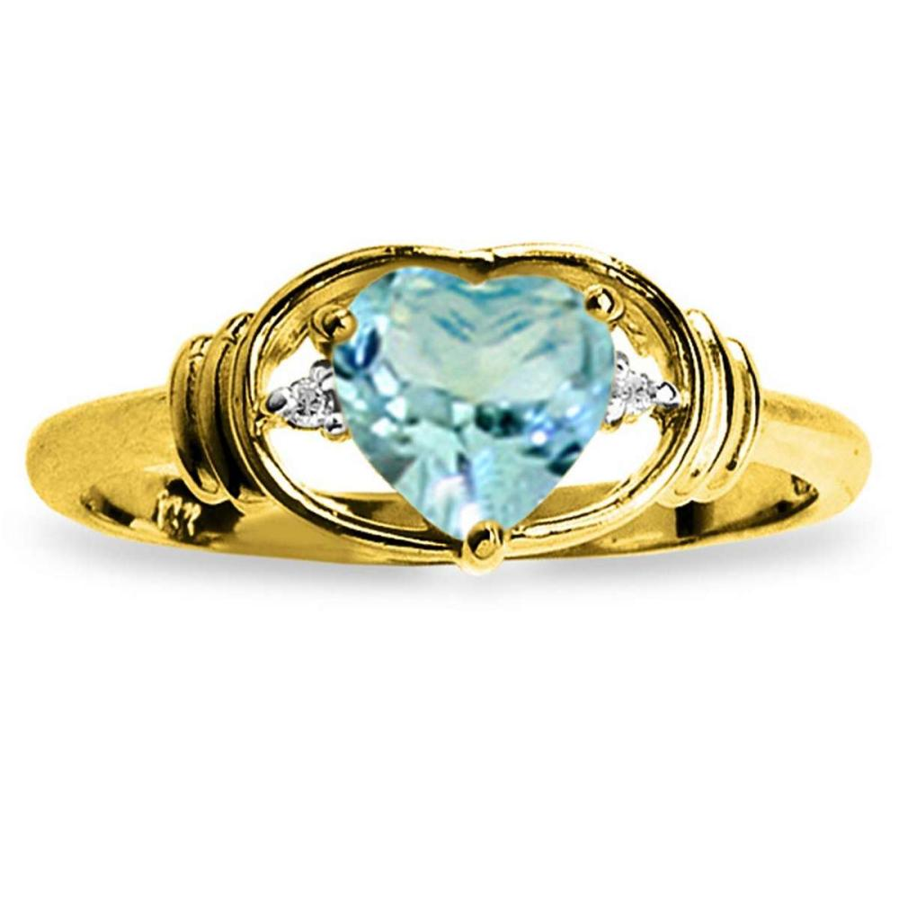 0.96 CTW 14K Solid Gold Rendezvous Blue Topaz Diamond Ring #1AC91552