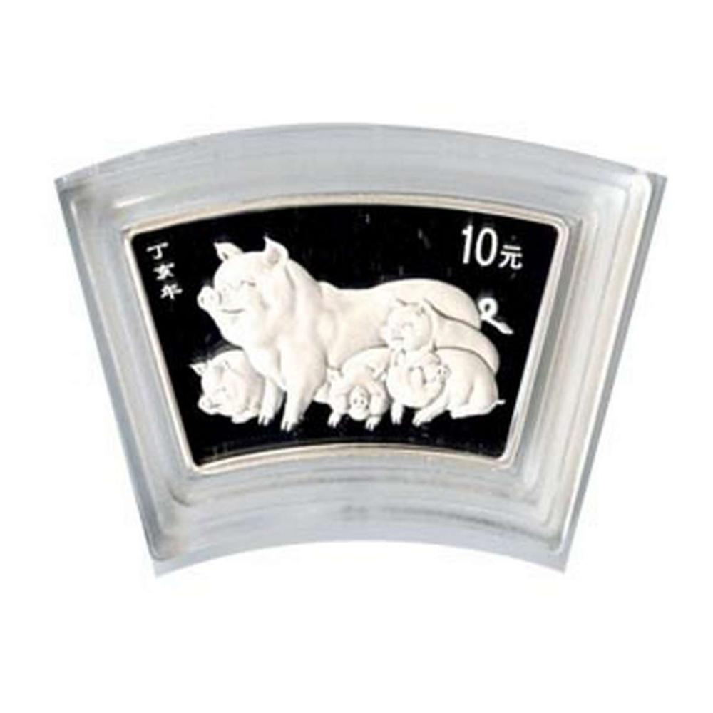 Chinese Silver Fan 1 Ounce 2007 Pig #1AC84379