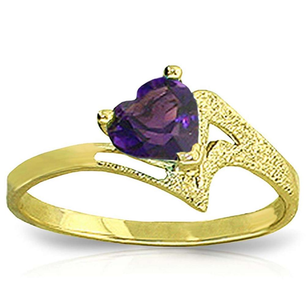 0.75 Carat 14K Solid Gold Ring Natural Purple Amethyst #1AC91361