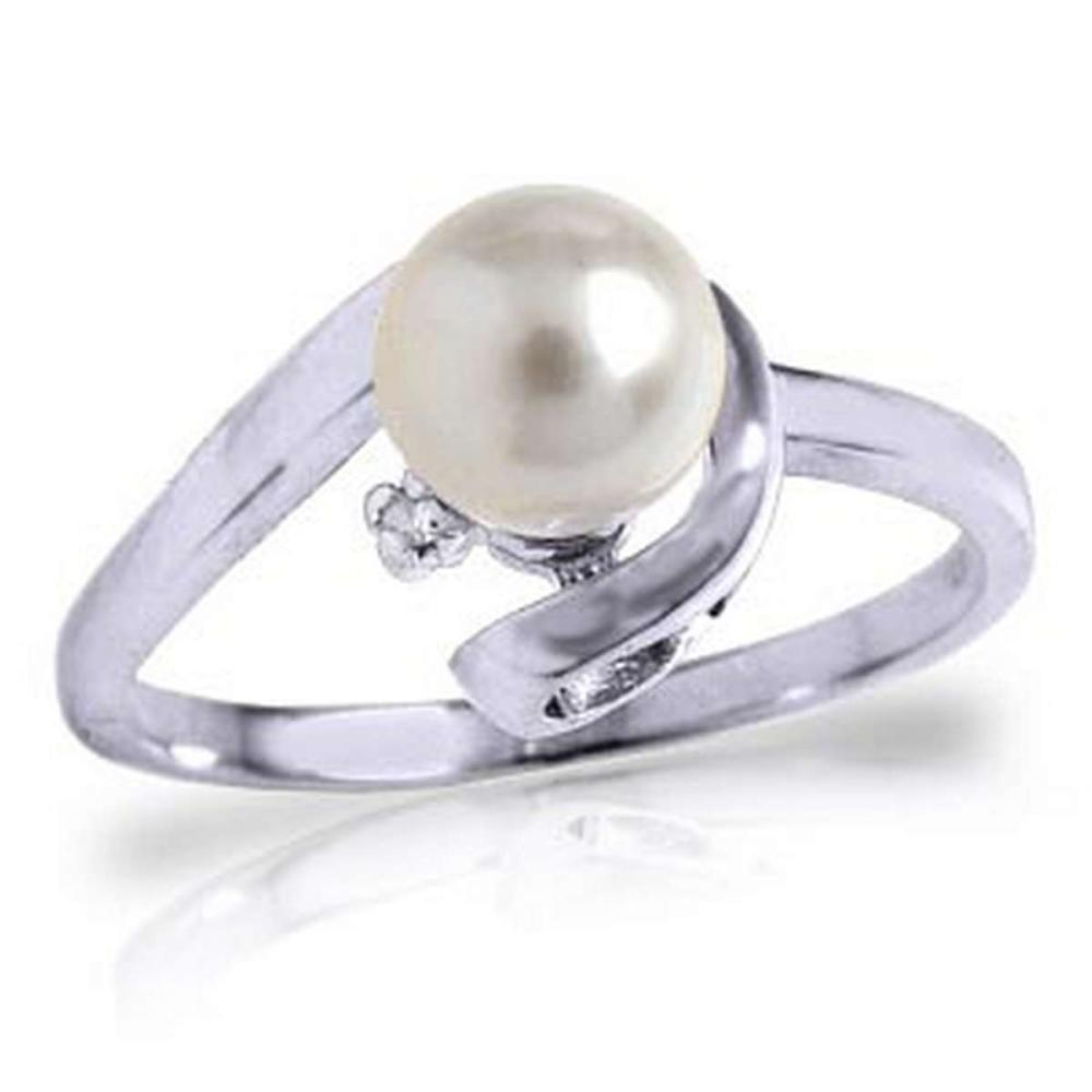1.01 Carat 14K Solid White Gold Ring Natural Diamond pearl #1AC91500