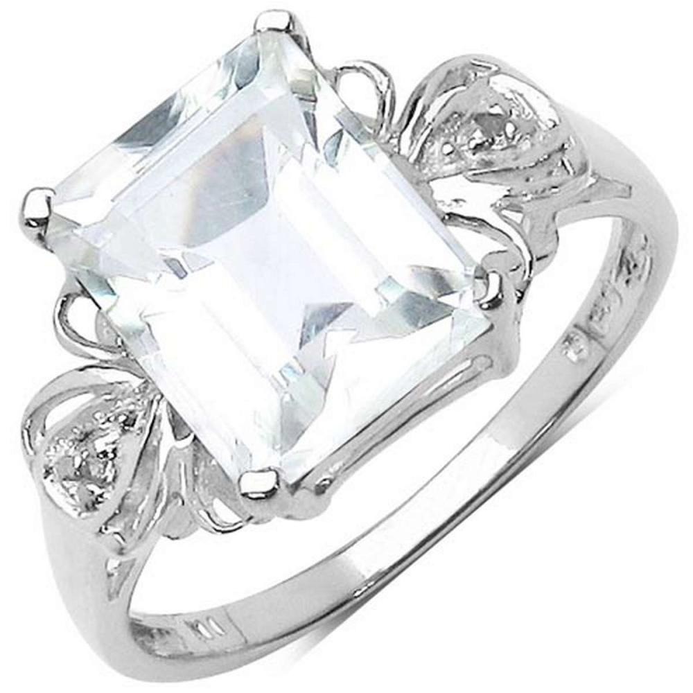 3.30 ct. t.w. Crystal Quartz and White Topaz Ring in Sterling Silver #1AC29194