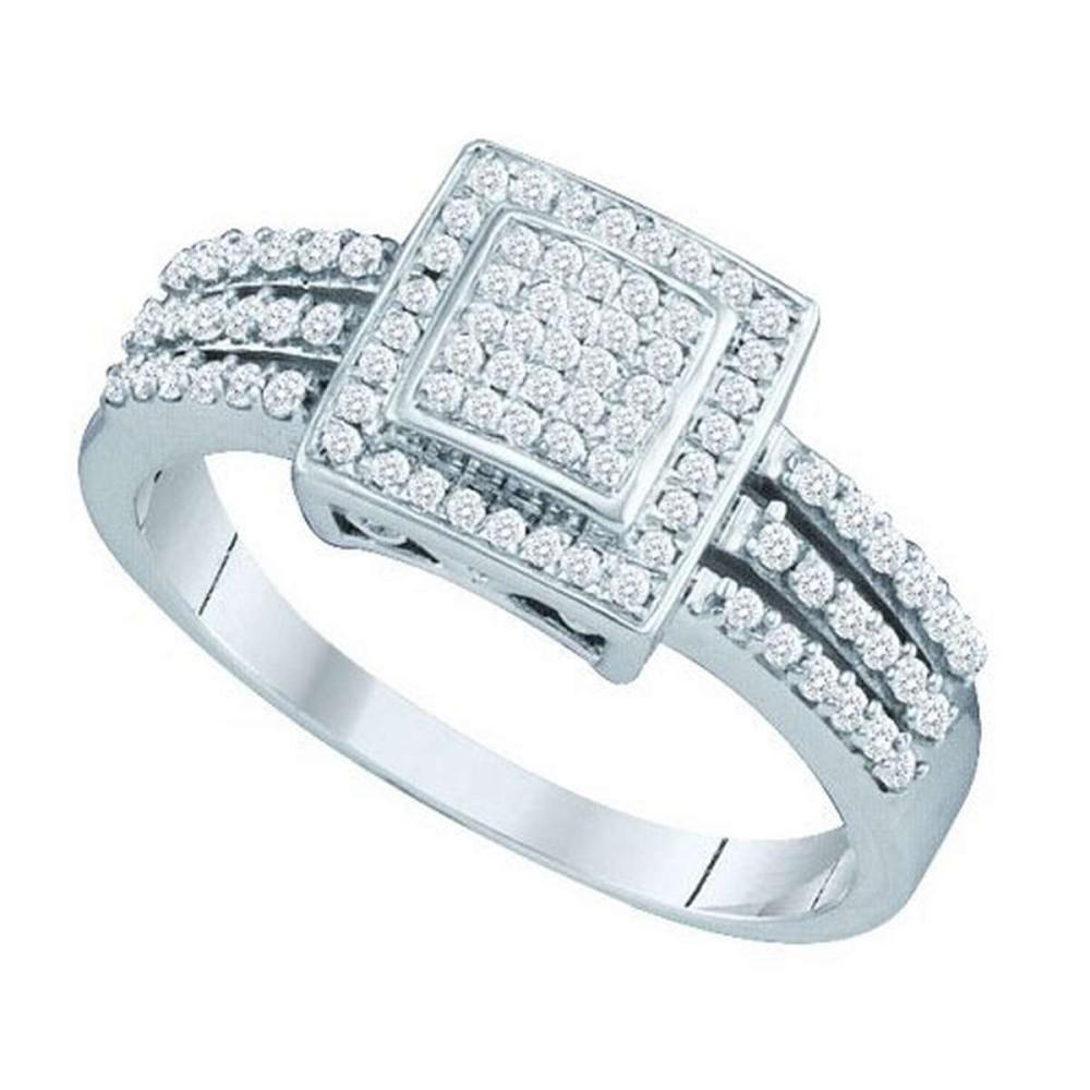 10KT White Gold 0.35CTW DIAMOND MICRO PAVE RING #1AC53941