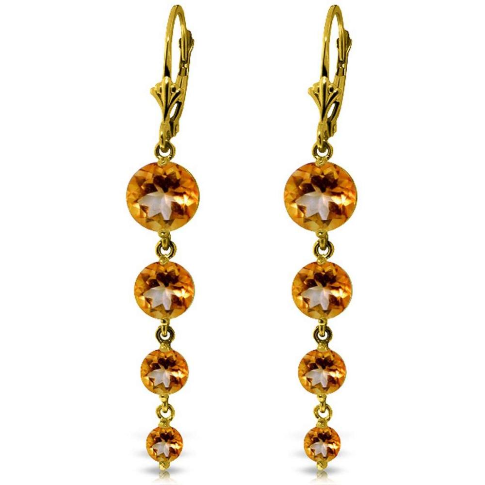 7.8 Carat 14K Solid Gold Drizzle Citrine Earrings #1AC92333