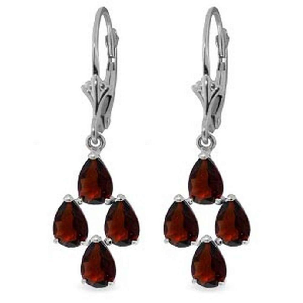4.5 CTW 14K Solid White Gold Walk Boldly Garnet Earrings #1AC92692