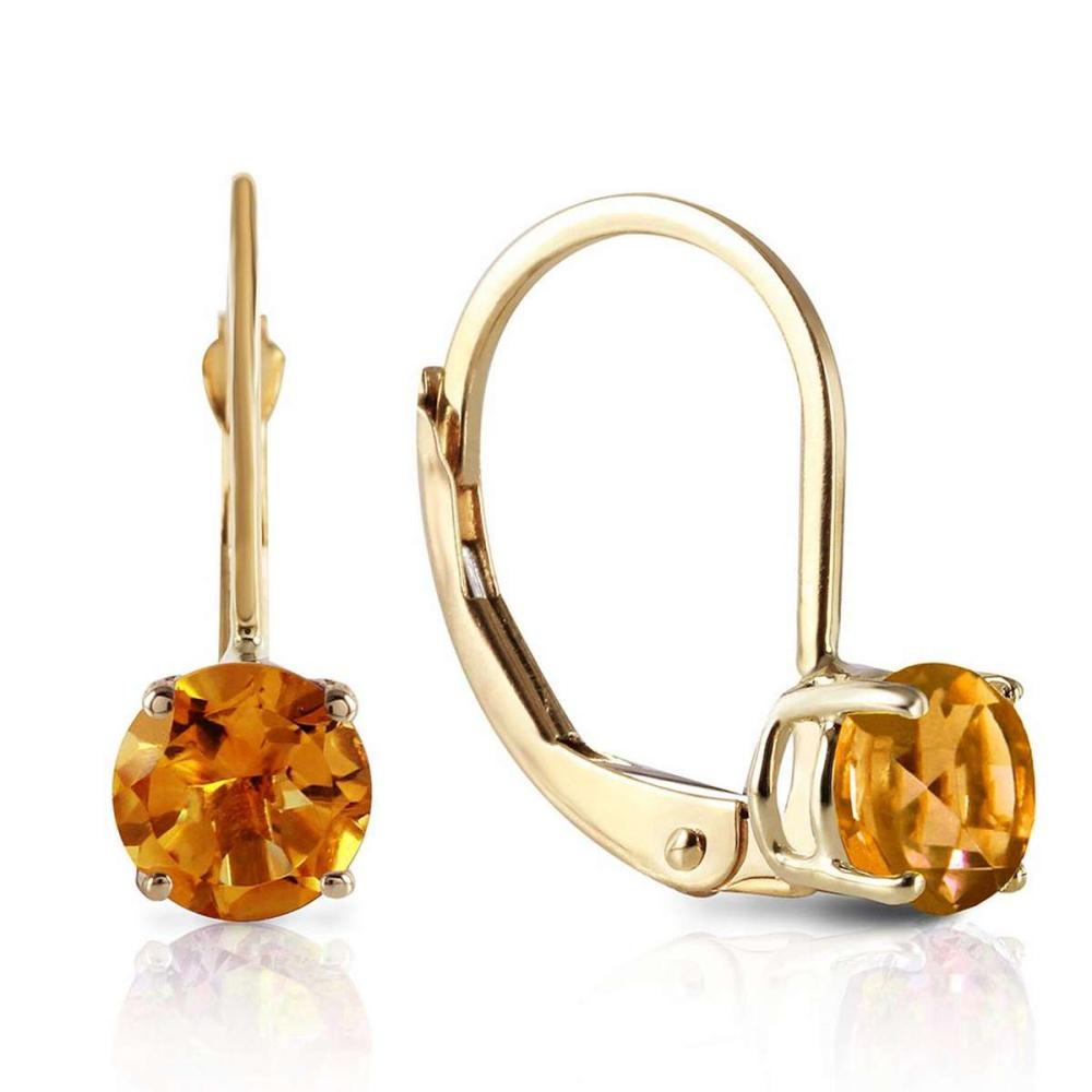 1.2 Carat 14K Solid Gold Iris Citrine Earrings #1AC92381
