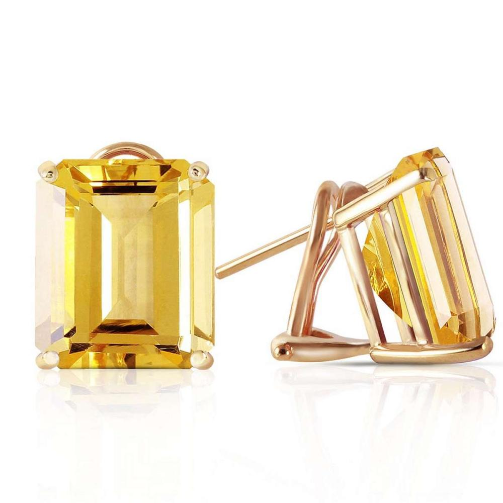 13 CTW 14K Solid Gold Distinction Citrine Earrings #1AC92531