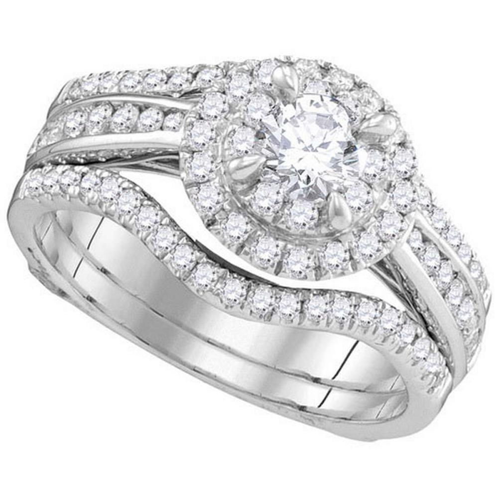 14KT White Gold 1.00CTW DIAMOND 0.33CTW CRD BRIDAL SET #1AC64631