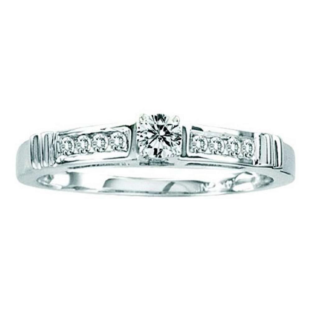 14KT White Gold 0.25CTW ROUND DIAMOND LADIES FASHION RING #1AC56593