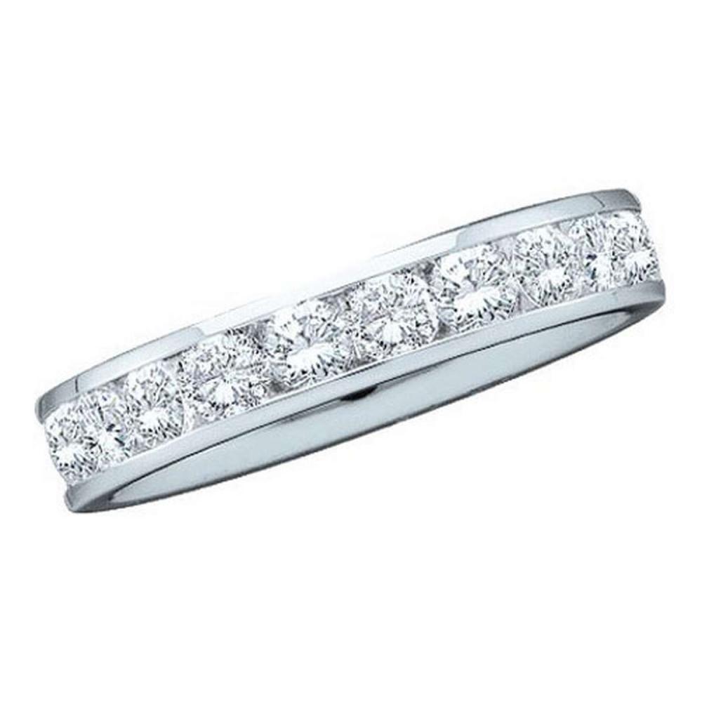 14KT White Gold 1.00 CTW DIAMOND MACHINE SET BAND #1AC56147