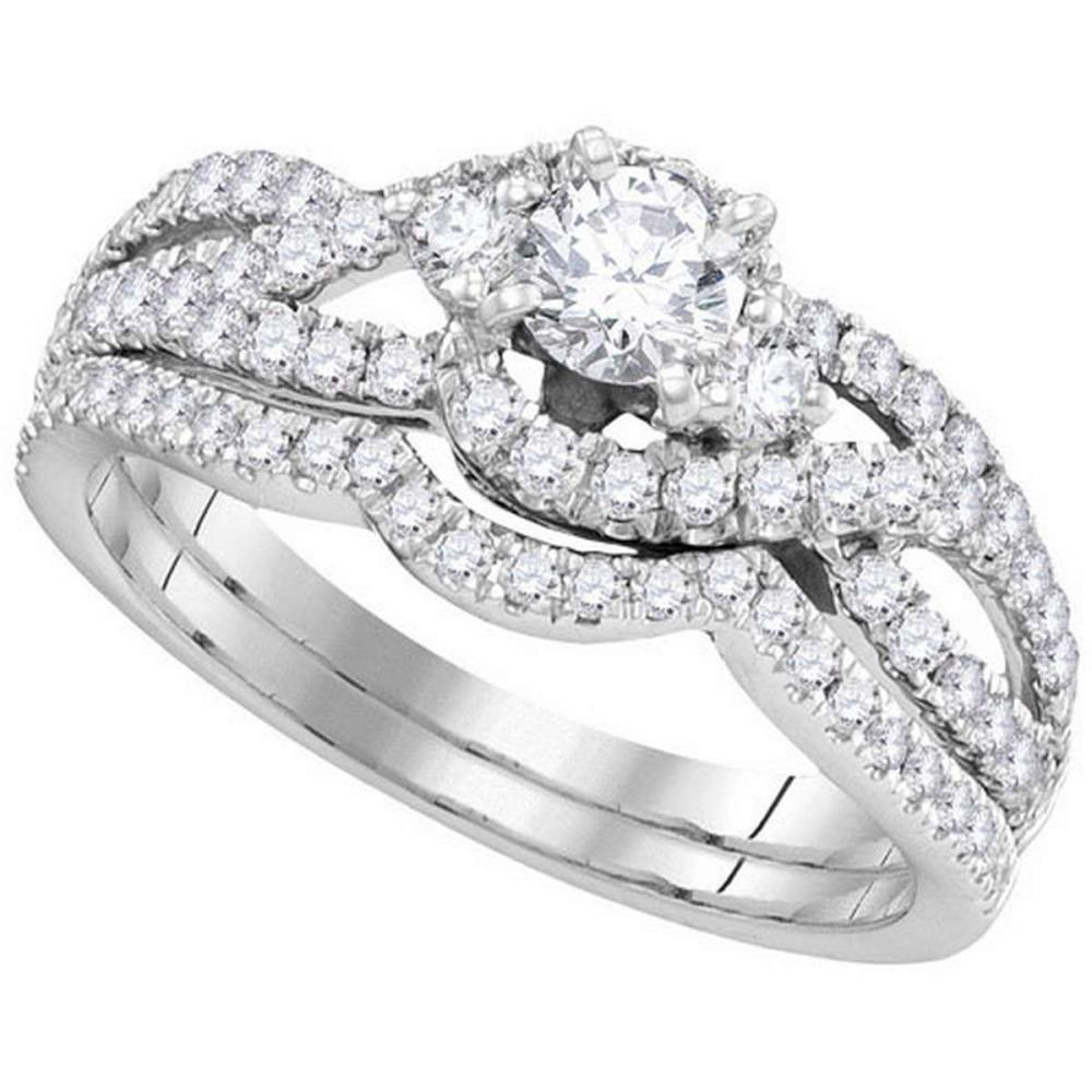14KT White Gold 1.01CTW DIAMOND 0.33CT-CRD BRIDAL SET #1AC64630