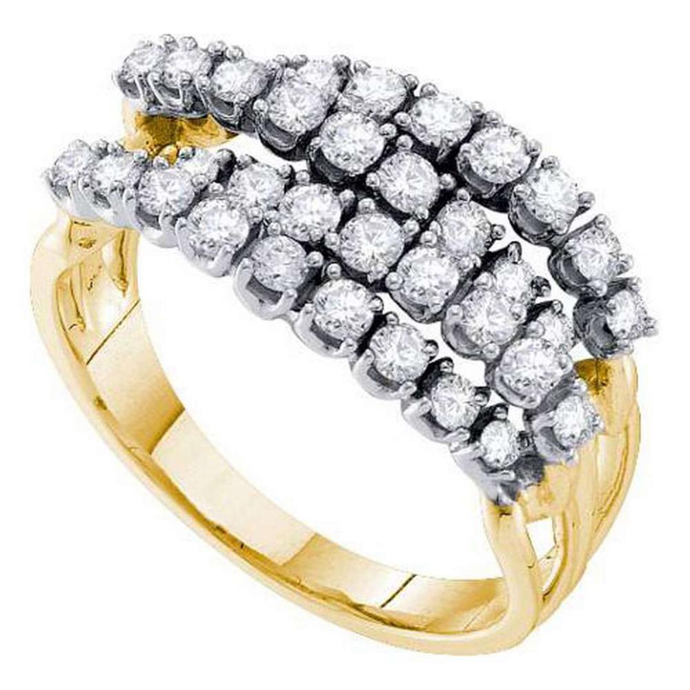 14KT Yellow Gold 0.49CTW ROUND DIAMOND LADIES FASHION BAND #1AC55920