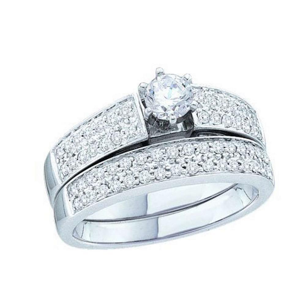 14KT White Gold 0.74CTW DIAMOND BRIDAL SET #1AC55973