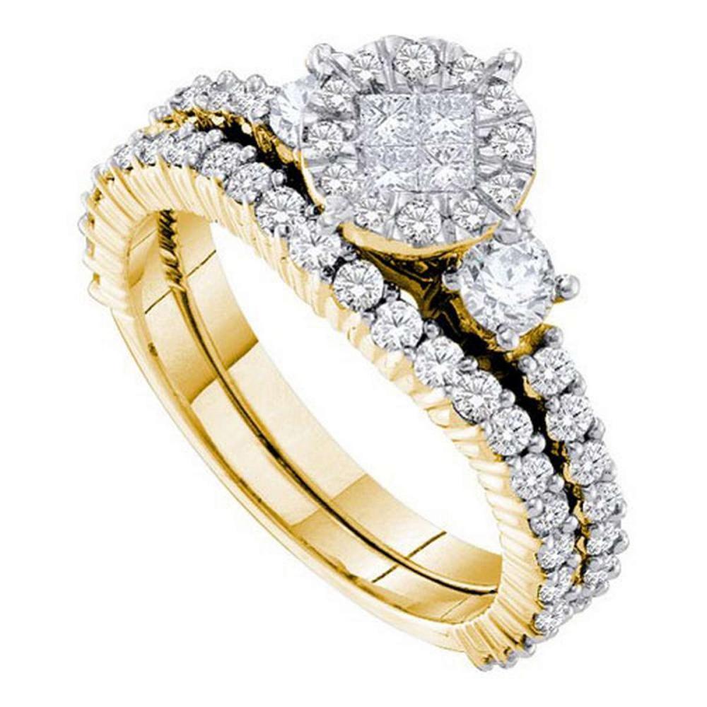 14K Yellow-gold 1.37CT DIAMOND SOLIEL BRIDAL SET #1AC56541