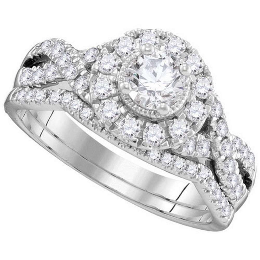 14KT White Gold 1.00CTW DIAMOND 0.33CTW CRD BRIDALSET #1AC64628