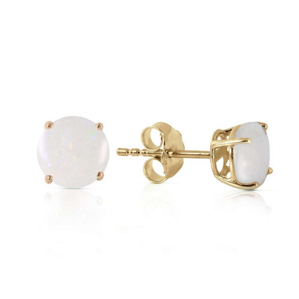 0.7 Carat 14K Solid Gold Opal Guest Opal Earrings #1AC92675