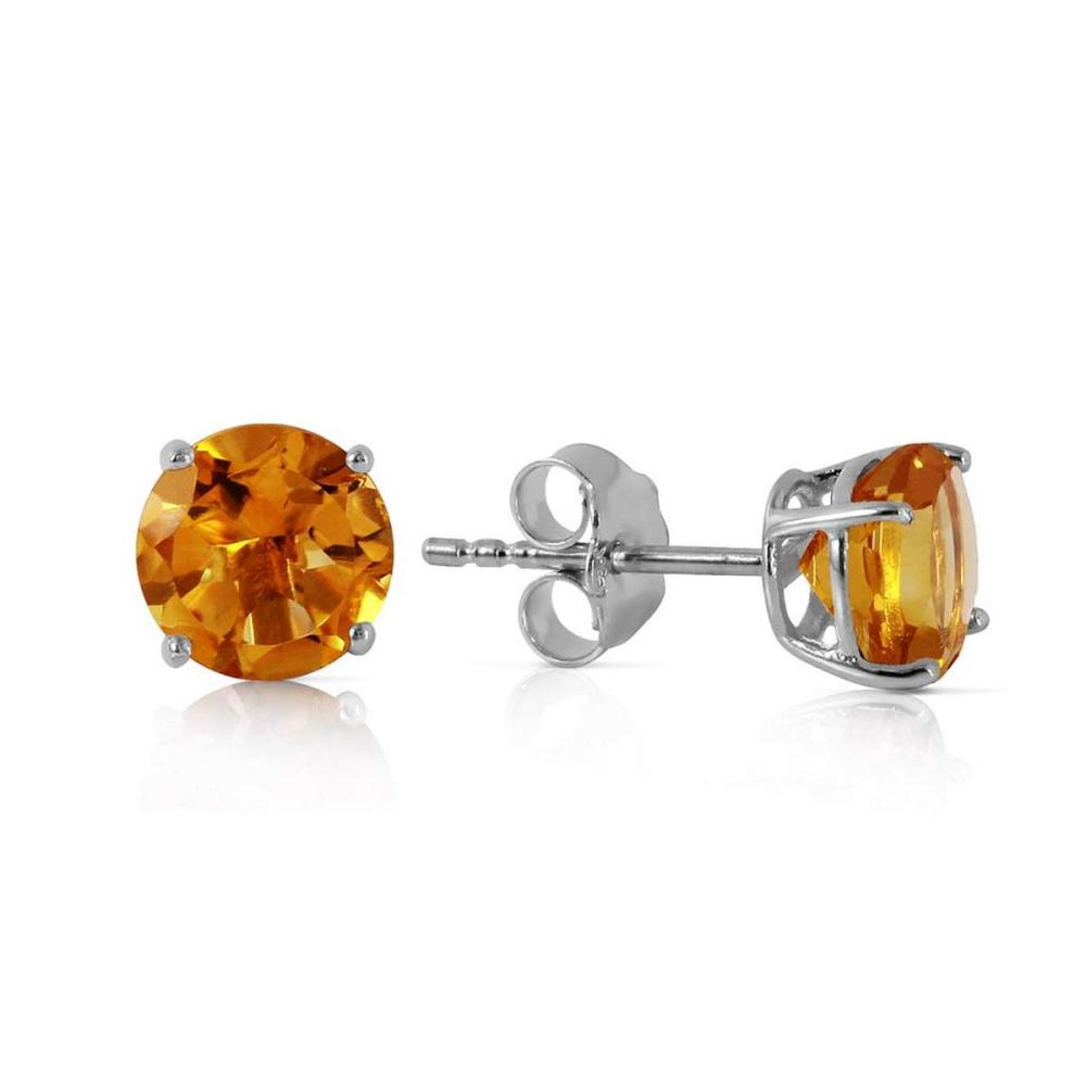 0.95 Carat 14K Solid White Gold Time And Tenderness Citrine Earrings #1AC92395