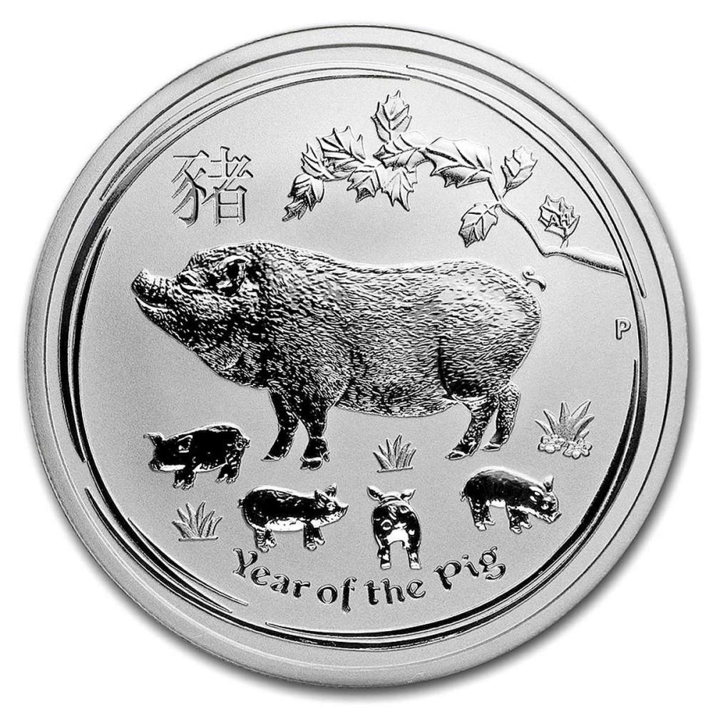 2019 Australia 1/2 oz Silver Lunar Pig #1AC81410