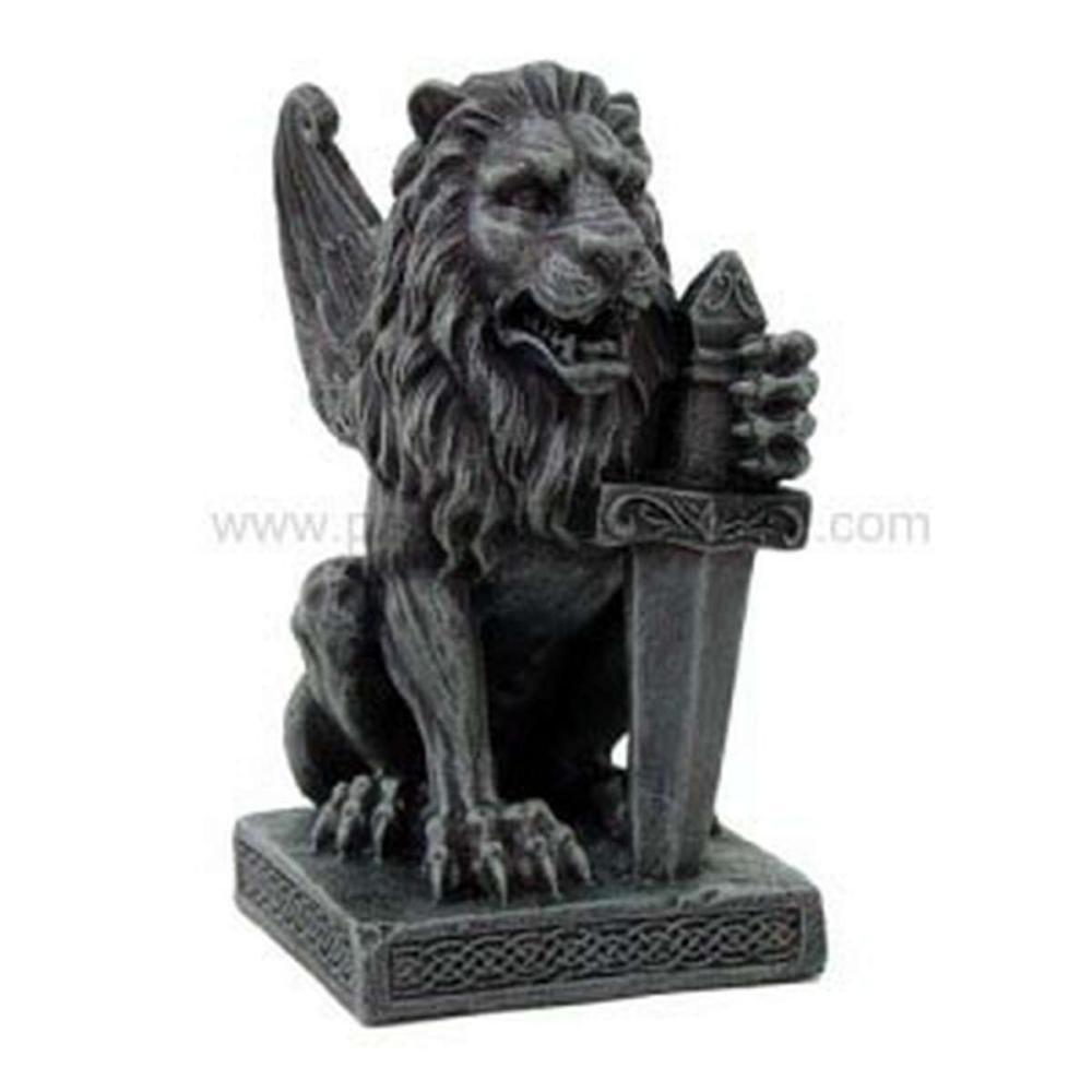 LION GARGOYLE W/ SWORD #1AC27513
