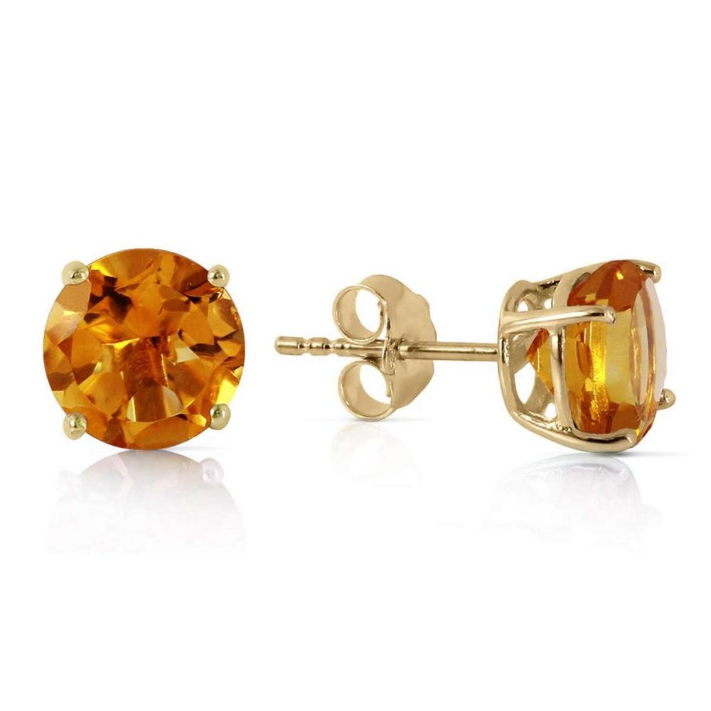 3.1 Carat 14K Solid Gold I Saw The Sun Citrine Earrings #1AC92285