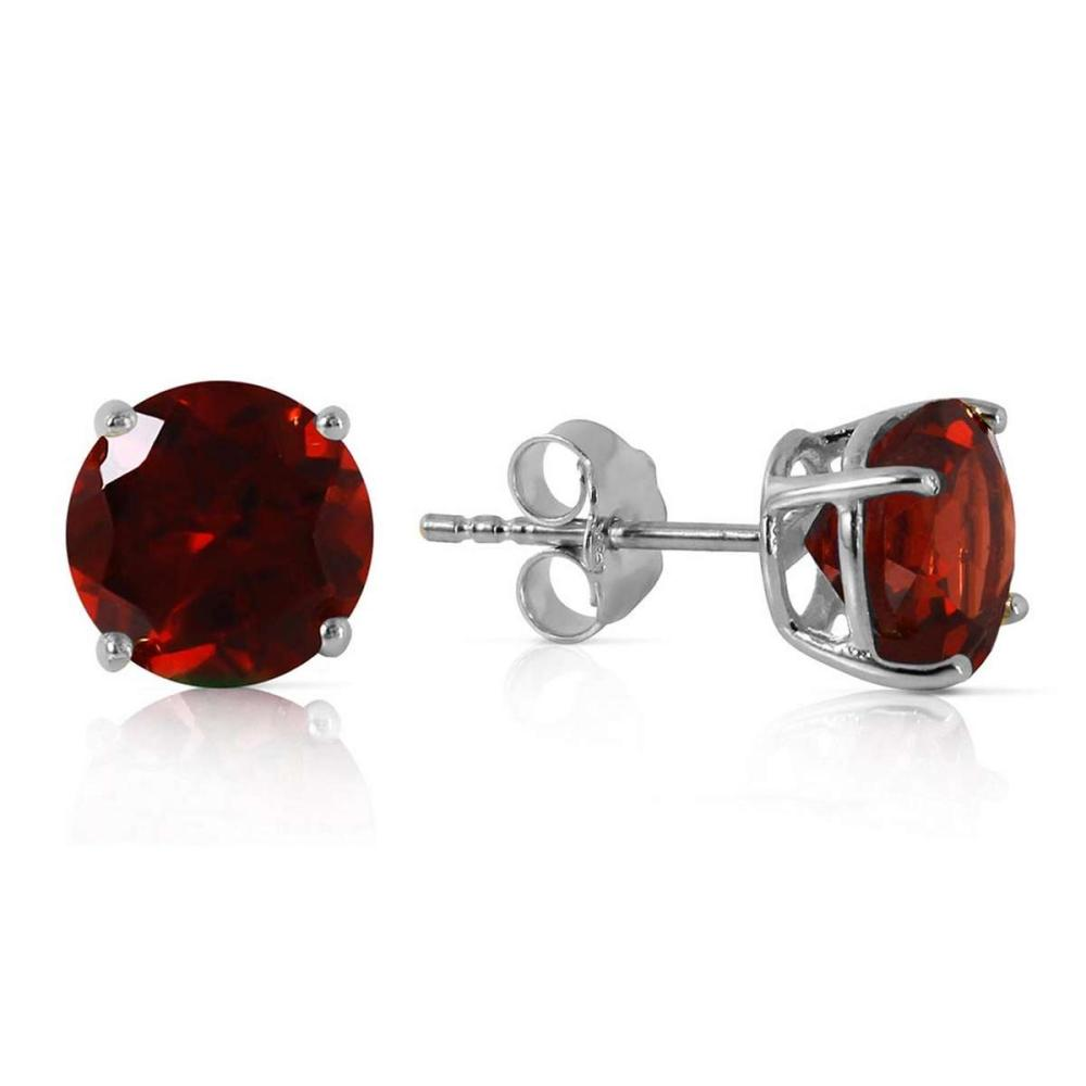 3.1 Carat 14K Solid White Gold Entre Nous Garnet Earrings #1AC92281