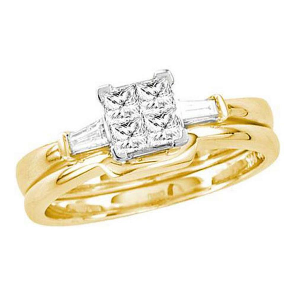 14KT Yellow Gold 0.50CTW DIAMOND INVISIBLE BRIDAL SET #1AC56359