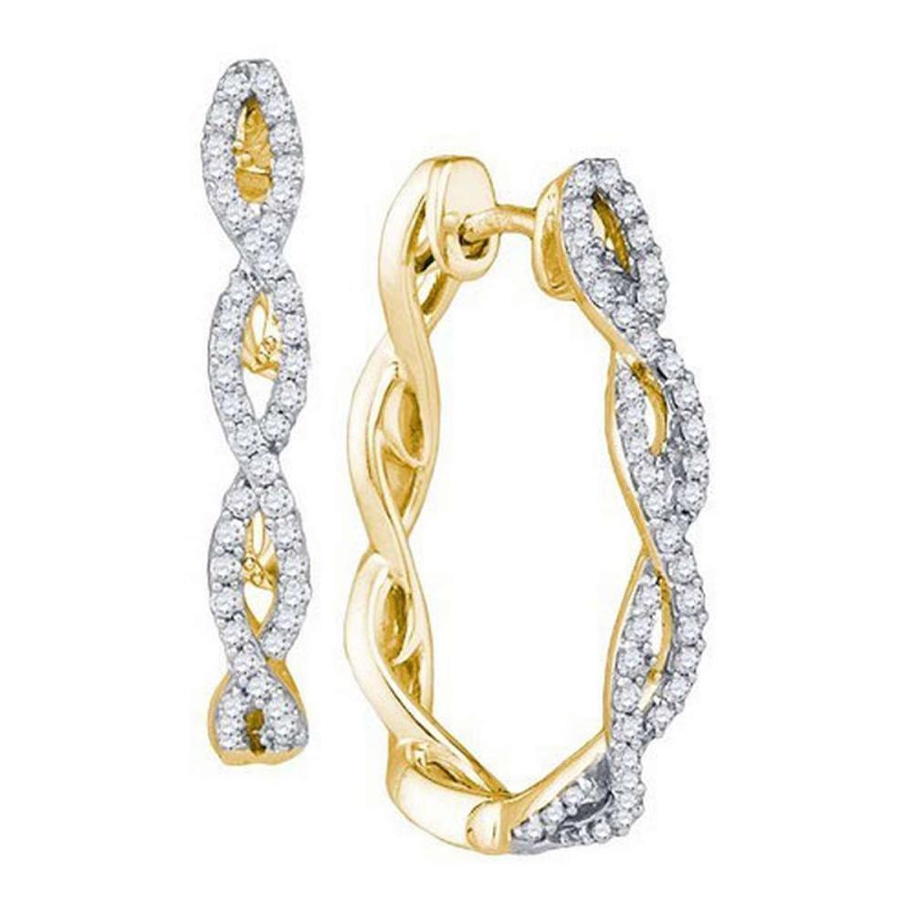 10K Yellow-gold 0.49CT DIAMOND FASHION HOOPS #1AC64309