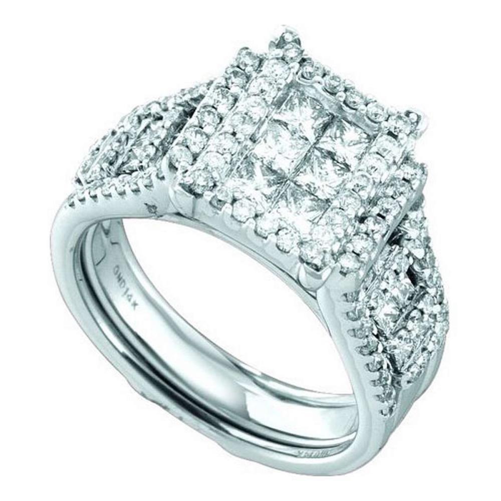 14K White-gold 2.00CT DIAMOND INVISIBLE BRIDAL SET #1AC56668