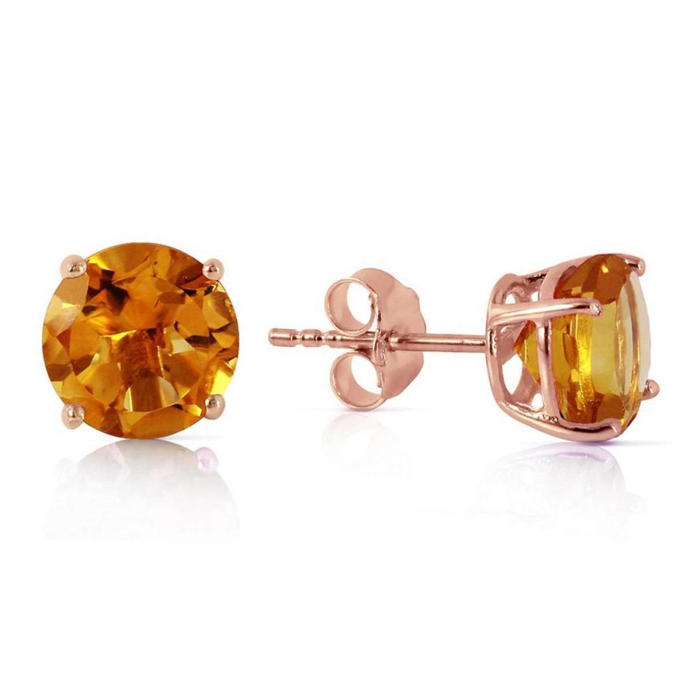 3.1 Carat 14K Solid Rose Gold Anna Citrine Stud Earrings #1AC92283