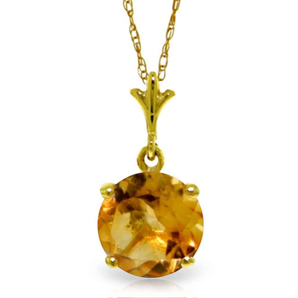 1.15 Carat 14K Solid Gold In Love Citrine Necklace #1AC92279